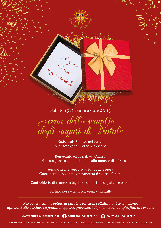 Gli Auguri Di Natale.Cena Per Lo Scambio Degli Auguri Di Natale Palio Di Legnano